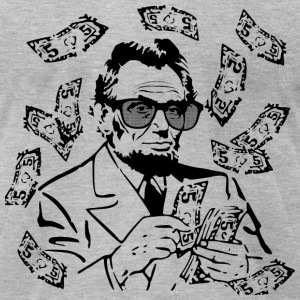 Make It Rain Abe Lincoln T-Shirts - Men's T-Shirt by American Apparel