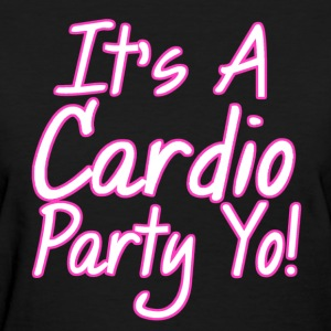 Cardio Party Pink/White Women's T-Shirts - Women's T-Shirt