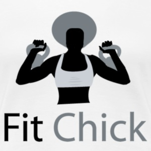 Fit Chick with Afro Women's T-Shirts - Women's Premium T-Shirt