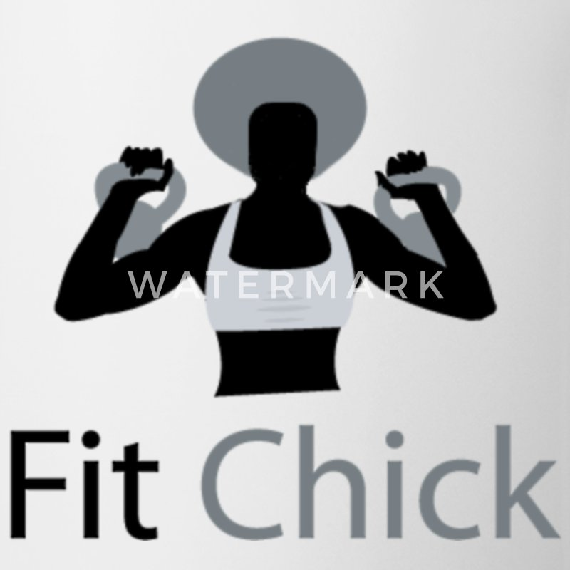Fit Chick with Afro Mugs & Drinkware - Coffee/Tea Mug