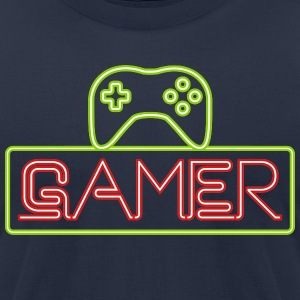 Gamer Neon T-Shirts - Men's T-Shirt by American Apparel