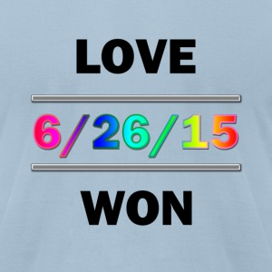 Love Won - Men's T-Shirt by American Apparel