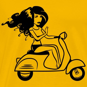 Scooter girl sexy T-Shirts - Men's Premium T-Shirt