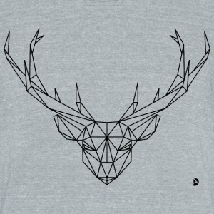 AD Geometric Deer T-Shirts - Unisex Tri-Blend T-Shirt by American Apparel