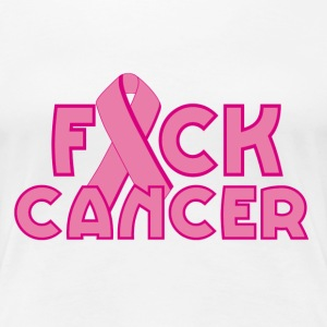 Fuck cancer breast cancer awareness - Women's Premium T-Shirt