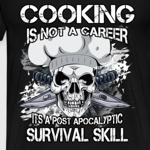 Chef T-shirt - Cooking is not a career - Men's Premium T-Shirt