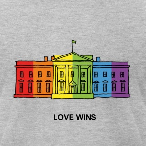 LOVE WINS - Men's T-Shirt by American Apparel