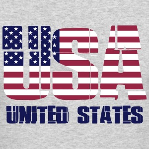 USA - United States Flag Long Sleeve Shirts - Men's Long Sleeve T-Shirt by Next Level