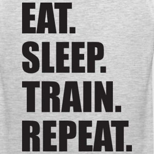 Eat. Sleep. Train. Repeat Tank Tops - Men's Premium Tank