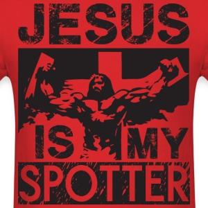 Jesus Is My Spotter T-Shirts - Men's T-Shirt