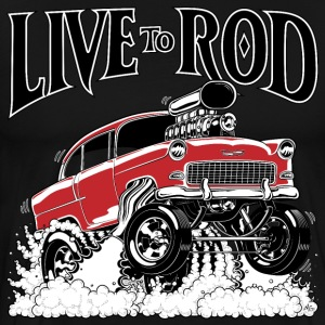LIVE TO ROD 1955 Gasser MEN's-T - Men's Premium T-Shirt
