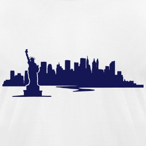 New York Skyline - United States  T-Shirts - Men's T-Shirt by American Apparel