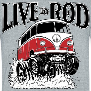 LIVE TO ROD 1964 Microbus - Unisex Tri-Blend T-Shirt