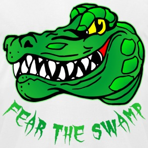 Fear The Swamp Gator - Men's T-Shirt by American Apparel