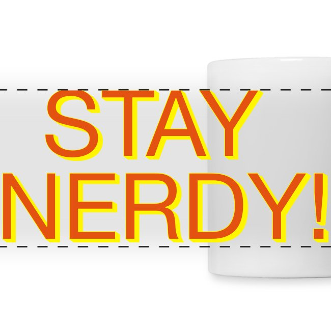 Stay Nerdy Panoramic Mug