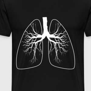 LUNGS -T Man - Men's Premium T-Shirt