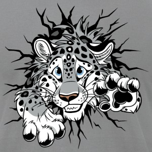 STUCK Snow Leopard - Men's T-Shirt by American Apparel