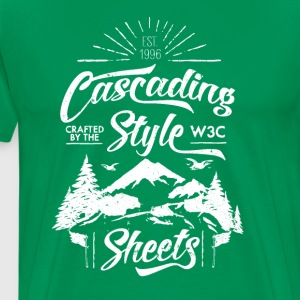 CSS-Shirt - Men (green) - Men's Premium T-Shirt