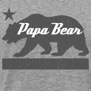 California Bear Family (PAPA Bear) - Men's Premium T-Shirt