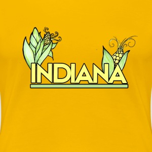 Indiana Pride Corn farmer - Women's Premium T-Shirt