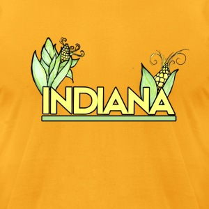 Indiana Pride Corn farmer - Men's T-Shirt by American Apparel