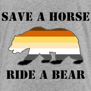 Gay Bear Pride Flag Save A horse Ride A Bear - Kids' Premium T-Shirt