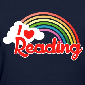 I love reading retro rainbow - Women's T-Shirt