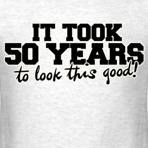 50th birthday party humor  - Men's T-Shirt
