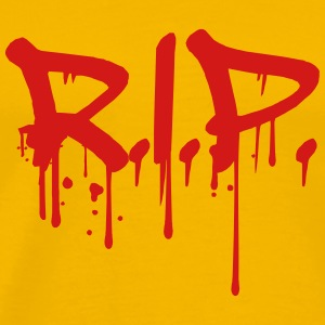 RIP death blood die kill murder splashes drip T-Shirts - Men's Premium T-Shirt