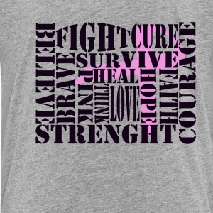 Breast Cancer Words Kids' Shirts - Kids' Premium T-Shirt