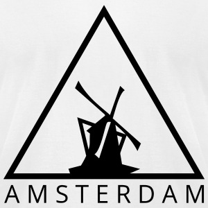 Amsterdam HipsterTriangle T-Shirts - Men's T-Shirt by American Apparel