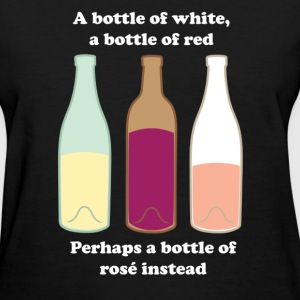 White, Red, Rose T-shirt - Women's T-Shirt