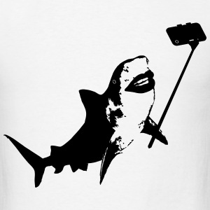 Shark Selfie Stick T-Shirts - Men's T-Shirt