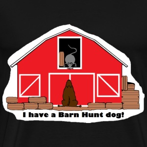 Barn Hunt Dog T - Men's Premium T-Shirt