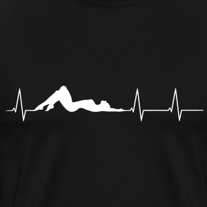 Woman body heartbeat Shirt - Men's Premium T-Shirt