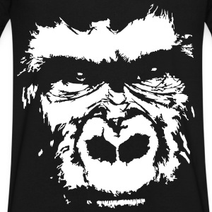 gorilla face T-Shirts - Men's V-Neck T-Shirt by Canvas