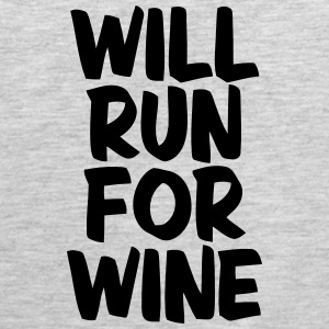 WILL RUN FOR WINE Tank Tops - Men's Premium Tank