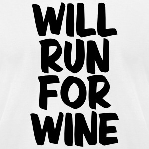 WILL RUN FOR WINE T-Shirts - Men's T-Shirt by American Apparel