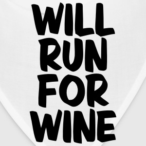WILL RUN FOR WINE Caps - Bandana