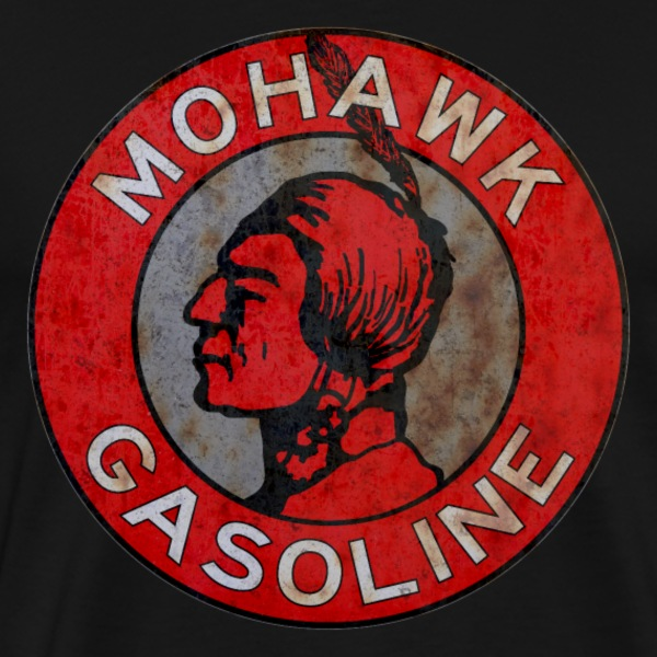 Mohawk Gasoline vintage sign rust version - Men's Premium T-Shirt