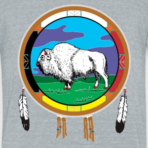 White Buffalo - Unisex Tri-Blend T-Shirt by American Apparel