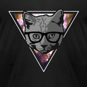 Infinity Hipster Cat T-Shirts - Men's T-Shirt by American Apparel