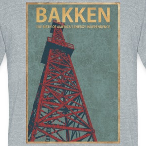 BAKKEN North Dakota - Unisex Tri-Blend T-Shirt