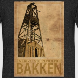 BAKKEN North Dakota - Unisex Tri-Blend T-Shirt by American Apparel