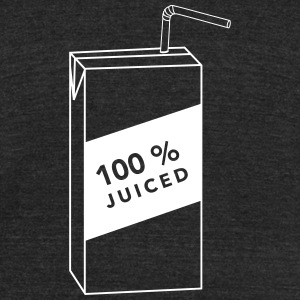 100% Juiced shirt - Unisex Tri-Blend T-Shirt by American Apparel