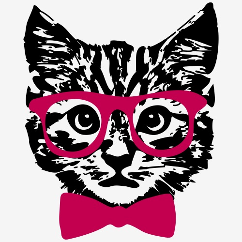 Hipster Kitten Baby Cat with Glasses