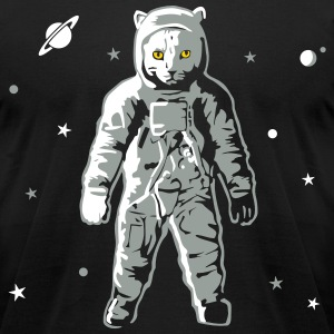 Cat Astronaut T-Shirts - Men's T-Shirt by American Apparel