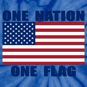 ONE NATION ONE FLAG Unisex Tie-Dye T-shirt - Unisex Tie Dye T-Shirt