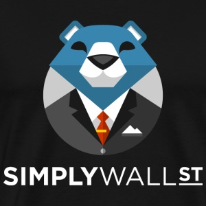 Simply Wall St T-Shirt with Bear Logo - Men's Premium T-Shirt