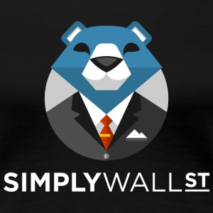 Simply Wall St T-Shirt with Bear Logo - Women's Premium T-Shirt